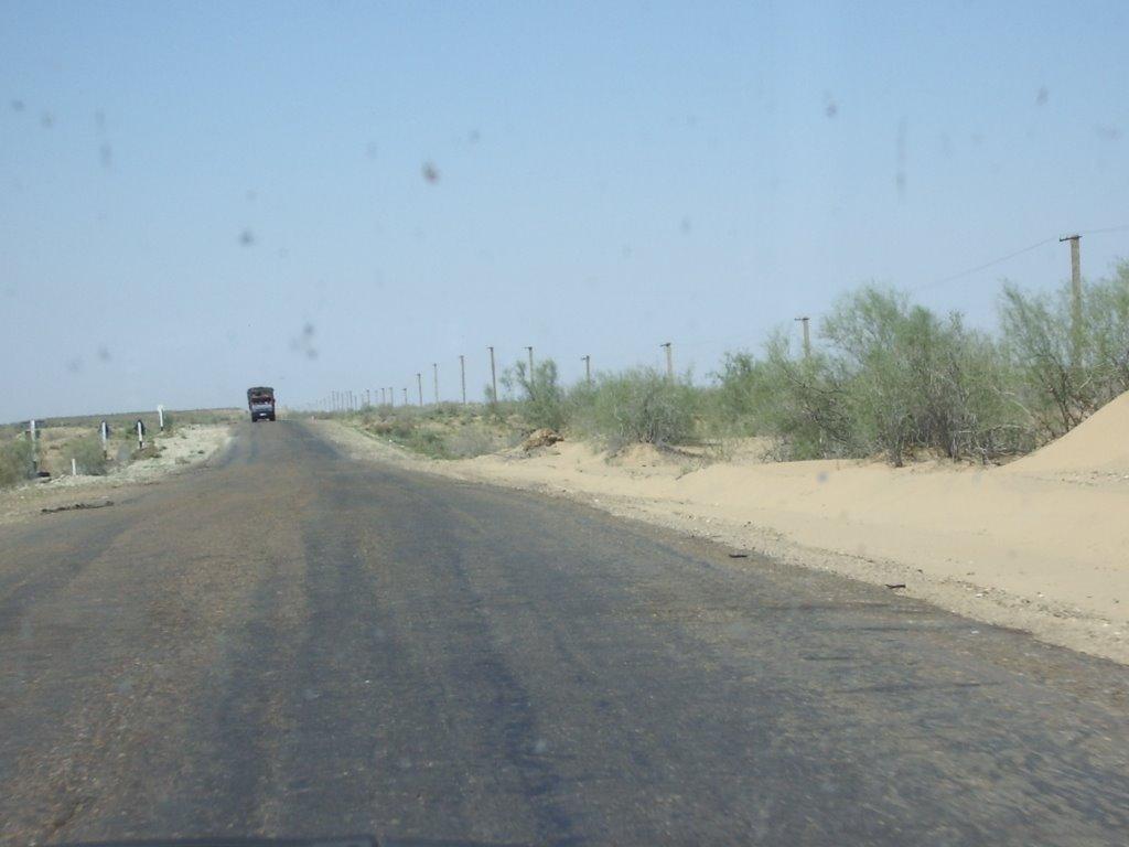 """""""Desert Road""""   Kizyl Koum   -  Uzbekistan, Каракуль"""