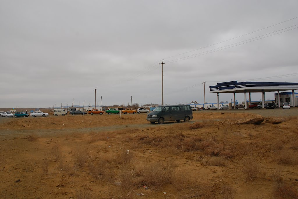 gasolin station on the road, Каракуль