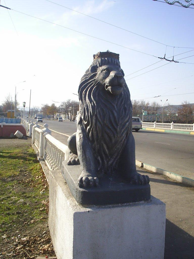 """Jizzax, u Mosta cherez reku """"SANZAR"""", Джизак"""