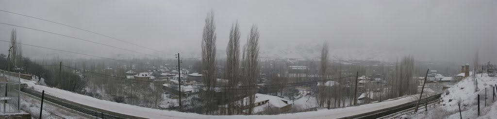 Kadamzhay, winter, view from cemetery, Вуадиль