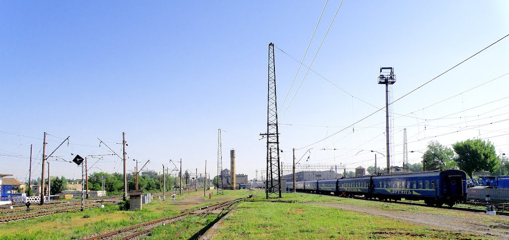 Панорама станции Дебальцево., Дебальцево