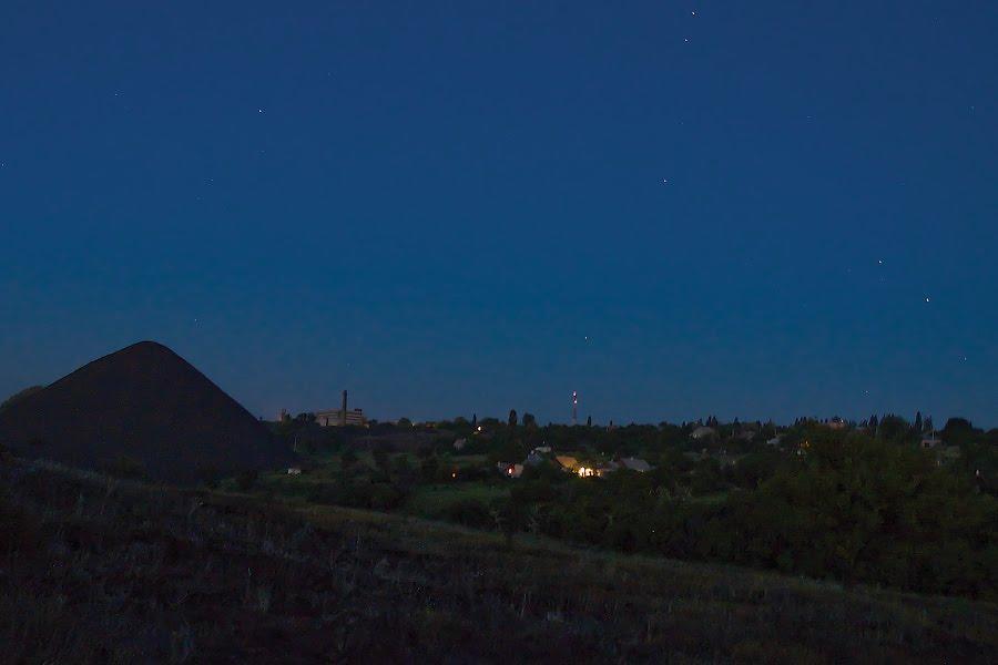 Терикон, посёлок Лутугино (в Москве полночь), Торез