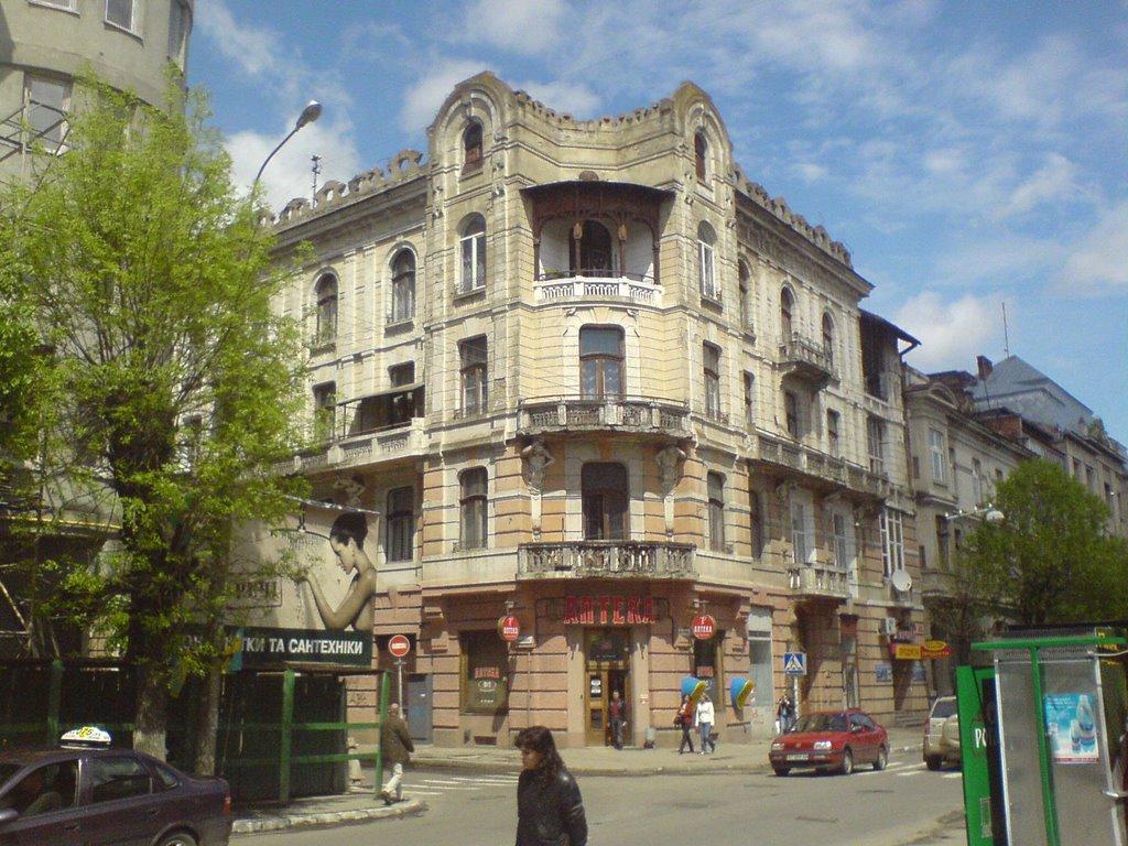 The beautiful Austrian buiding on  Chernovola street (ex Pushkin street), Ивано-Франковск