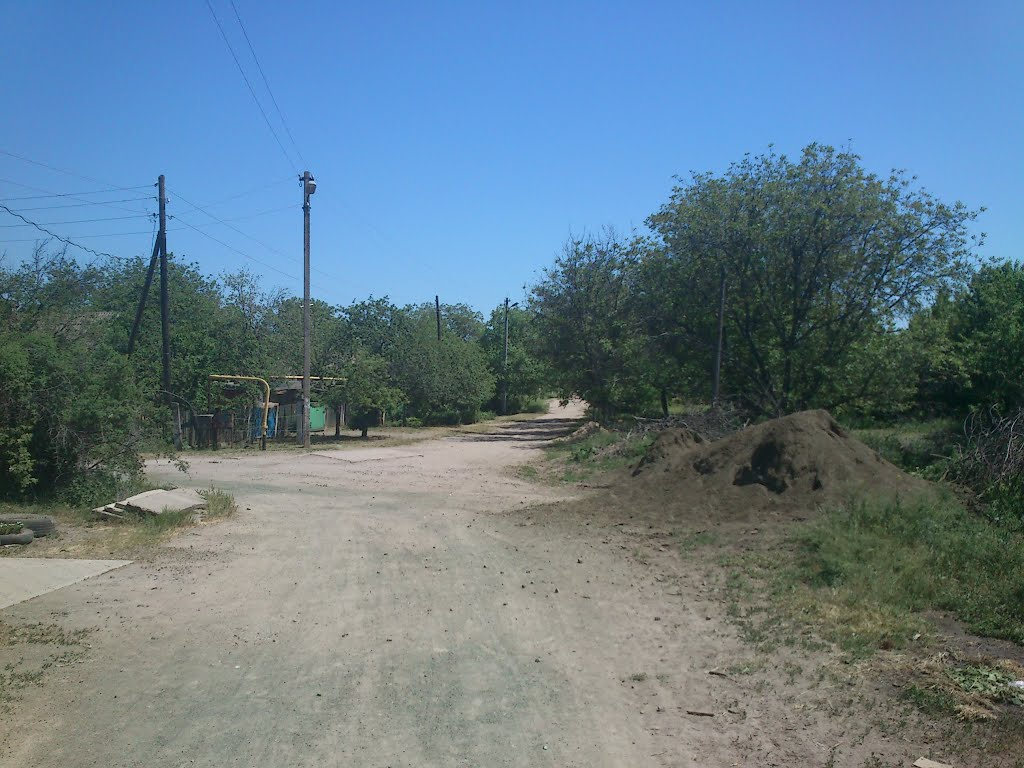 Crossroads in Village #1, a suburb of Ordzhonikidze, Орджоникидзе